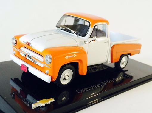 Chevrolet: 3100 Brasil (1959) - Branco e Laranja - 1:43 - Ixo