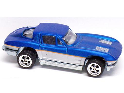 Chevrolet: Corvette (1963) - Larrys Garage - Azul - 1:64 - Hot Wheels