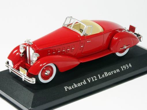 Packard: V12 LeBaron (1934) - Vermelho - 1:43 - Altaya
