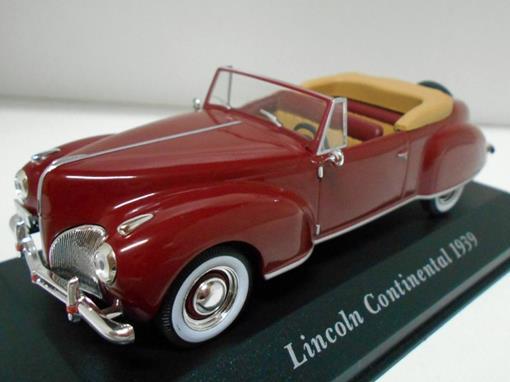 Lincoln Continental (1939) - Vermelho - 1:43 - Altaya