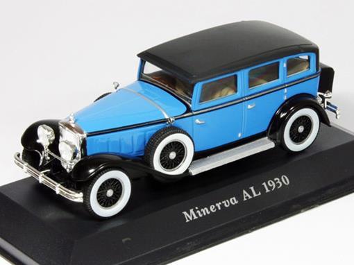 Minerva: AL (1930) - Azul / Preto - 1:43 - Altaya