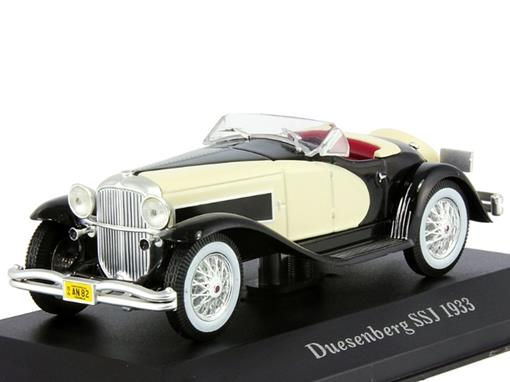 Duesenberg: SSJ (1933) - Preto / Creme - 1:43 - Altaya
