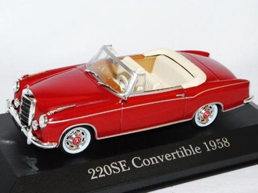 Mercedes Benz: 220SE Conversível (1958) - Vermelho - 1:43 - Altaya