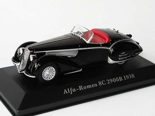Alfa Romeo: 8C 2900B (1938) - Preto - 1:43 - Altaya