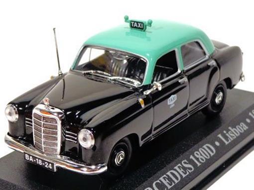 Taxi Mercedes: 180D - (Lisboa, 1960) - 1:43 - Altaya