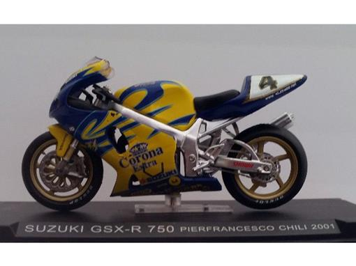 Suzuki: Gsx-R 750 (2001) - Pierfrancesco Chili - 1:24 - Altaya