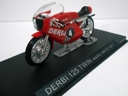 Derbi: 125 Twin (1971) - Angel Nieto #4 - 1:24 - Altaya