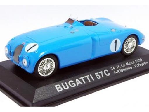 Bugatti: 57C - #1 J-P. Wimille / P. Veyron - 24h Le Mans (1939) - 1:43 - Del Prado