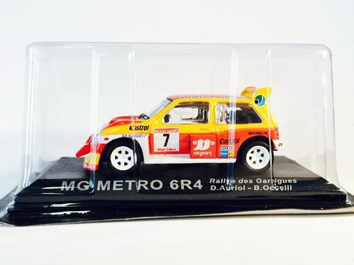 MG Metro: 6R4 - #7 Auriol / Occelli - Rallye des Garrigues - 1:43 - Del Prado