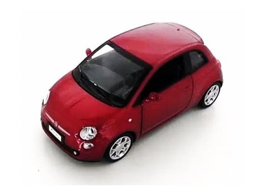 Fiat: 500 - C/ Luz e Som - California Action - Vermelho - 1:32 - California Toys