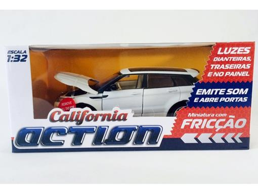 Range Rover: Evoque - C/ Luz e Som - California Action - Branco - 1:32 - California Toys