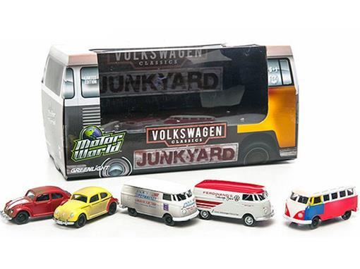 Volkswagen: Set c/ Kombi e Fusca - Motor World -  JankYard  - 1:64 - Greenlight