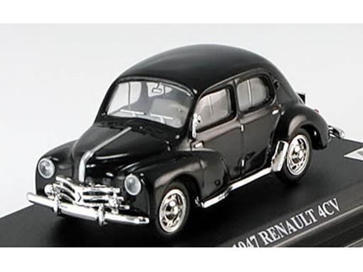 Renault: 4CV (1947) - Preto - 1:43 - Del Prado