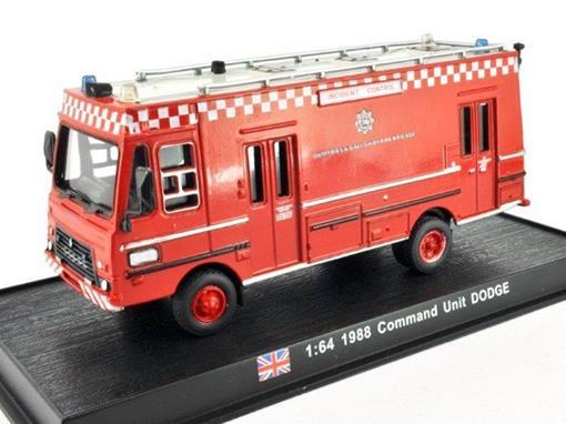 Dodge: Command Unit (1988) - Bombeiros - 1:64 - Del Prado