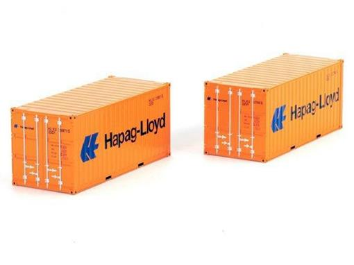 Containers: 2x 20 Ft Hapag Lloyd - 1:50 - WSI Models