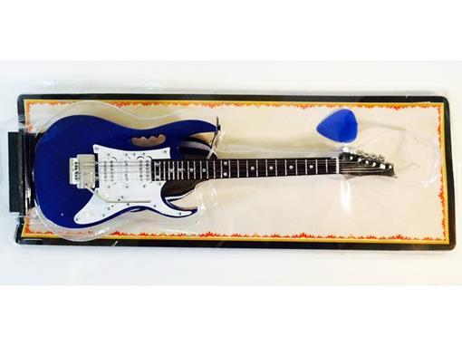 Miniatura de Guitarra Ibanez JEM - Azul - (Blister) - 1:4 - Tudo Mini