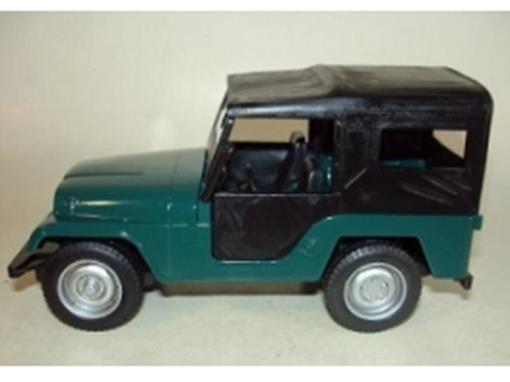 Jeep Willys (1960/ 1961) - Verde e Preto - 11 cm