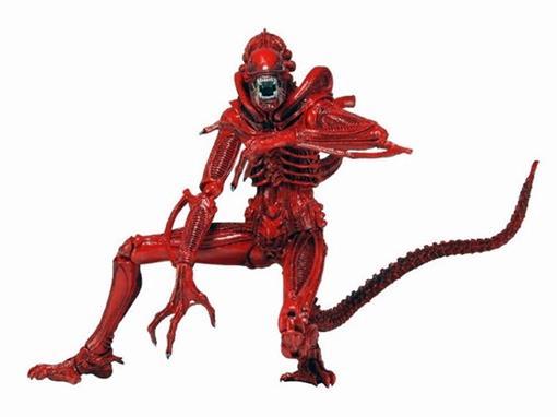 Boneco Xenomorph Warrior - Series 5 - Aliens Genocide - Vermelho - Neca