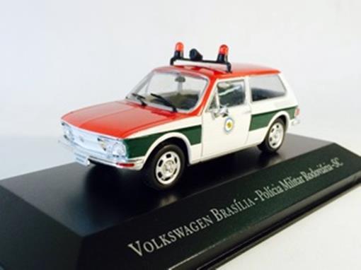 Volkswagen: Brasília - Policia Militar Rodoviária SC - 1:43 - Ixo