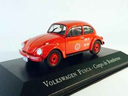 Volkswagen: Fusca - Corpo de Bombeiros - 1:43 - Ixo
