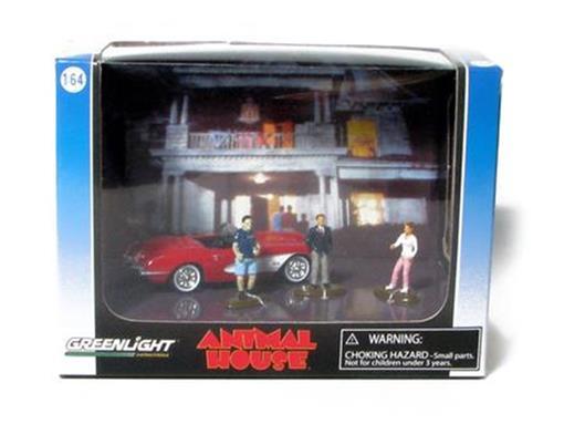 Diorama: Chevrolet Corvette (1959) / Figuras - Animal House - 1:64 - Greenlight