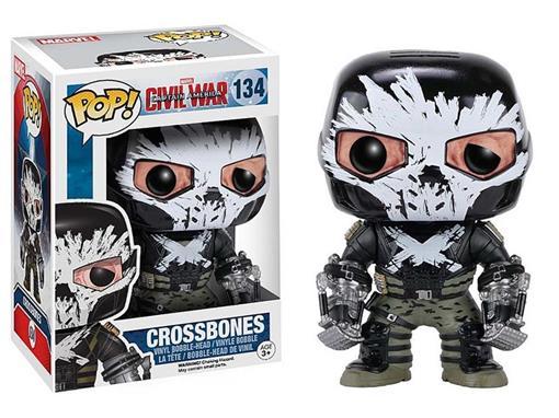 Boneco Crossbones - Capitão América Guerra Civil - Pop! Marvel 134 - Funko