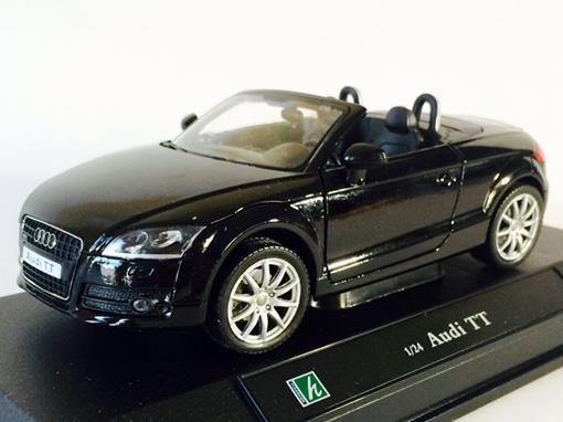 Audi: TT - Preto - 1:24 - Cararama