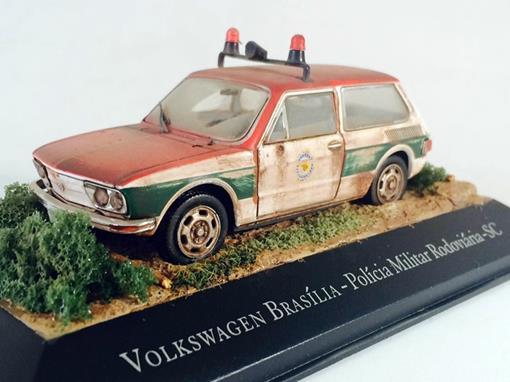 Diorama Volkswagen Brasília - Customizado e Envelhecido -