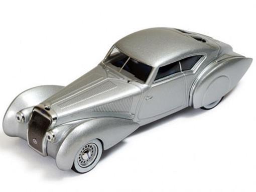 Delage: D8 120-S Pourtout Aero Coupe (1937) - Prata - Ixo Museum