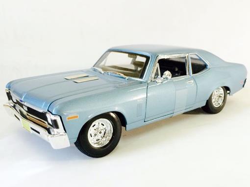 Chevrolet: Nova SS Coupe (1970) - Azul - 1:18 - Maisto
