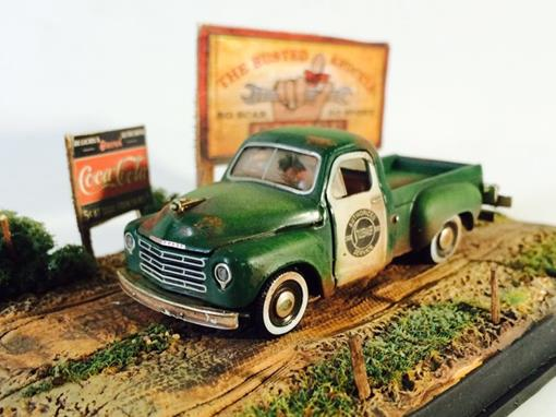 Diorama: Studbaker 2R Truck (1952) - Verde -
