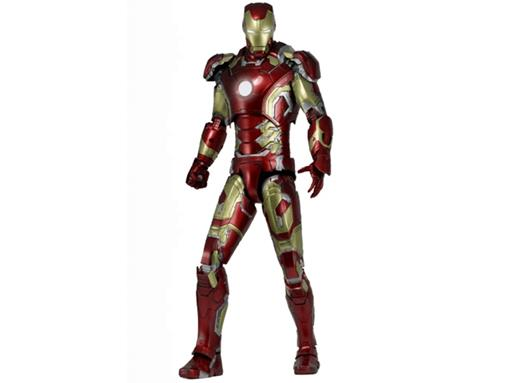 Boneco Iron Man Mark XLIII - Avengers: Age of Ultron - C/ Luzes de LED - 1:4 - Neca