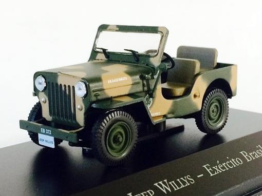 Jeep Willys - Exército Brasileiro - 1:43 - Ixo