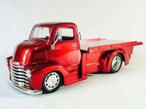 Chevrolet: Coe Flatbed (1952) - Just Trucks - Vermelho - 1:24 - Jada