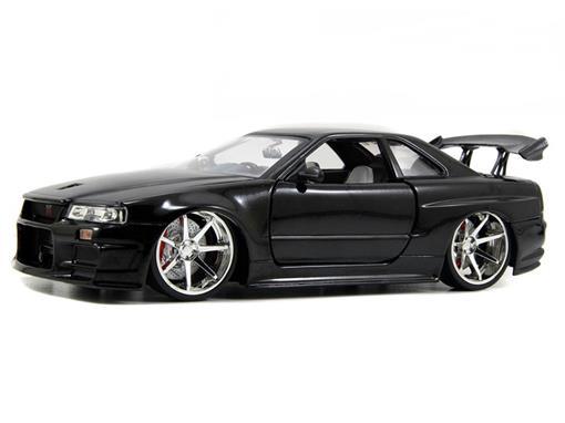 Nissan: Skyline GT-R (BNR34) - Bigtime Kustoms - Preto - 1:24 - Jada