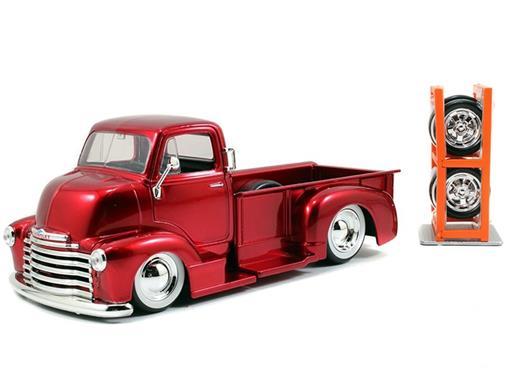 Chevrolet: Coe Pickup (1952) c/ Rodas Extras - Vermelho - Just Trucks - 1:24 - Jada
