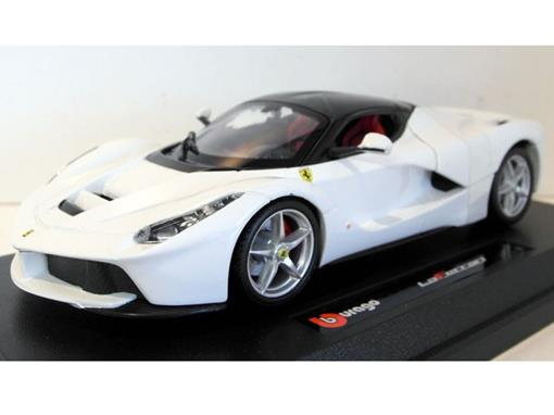 Ferrari: LaFerrari - Race e Play - Branca - 1:24 - Burago