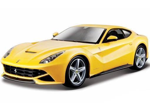 Ferrari: F12 Berlinetta - Race e Play - Amarelo - 1:24 - Burago