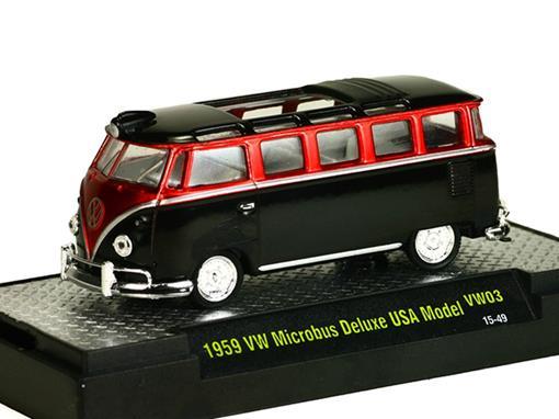 Volkswagen: Kombi Microbus Deluxe USA Model (1959) Verde / Preto - M2 Machines - 1:6