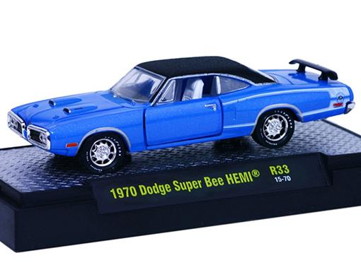 Dodge: Super Bee HEMI (1970) Azul - M2 Machines - 1:64