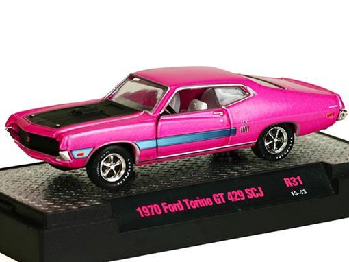 Ford: Torino GT 429 SCJ (1970) Rosa - M2 Machines - 1:64
