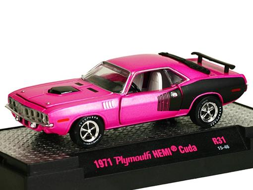 Plymouth: HEMI Cuda (1971) Rosa - M2 Machines - 1:64