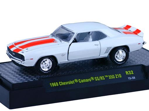 Chevrolet: Camaro SS/RS 350 Z10 (1969) - Branco - 1:64 - M2 Machines