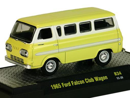 Ford: Falcon Club Wagon (1965) Amarelo - M2 Machines - 1:64
