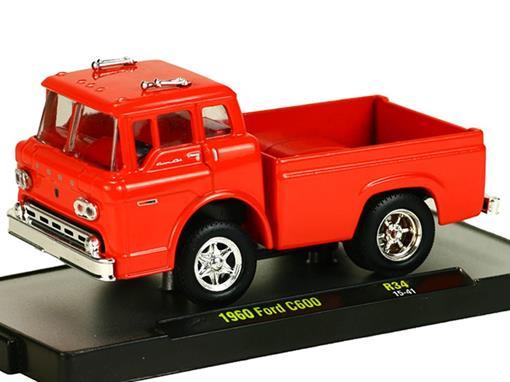 Ford: C600 Pickup (1960) Auto-Trucks - Vermelho - M2 Machines - 1:64