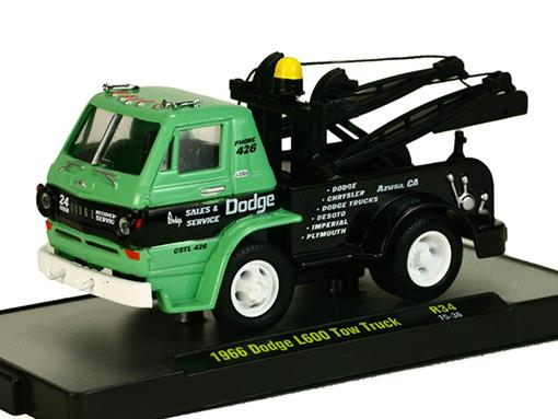 Dodge: L600 Tow Truck (1966) Auto-Trucks - Verde - M2 Machines - 1:64