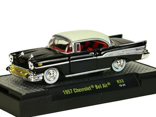 Chevrolet: Bel Air (1957) Auto-Thentics - Preto - M2 Machines - 1:64