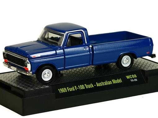 Ford: F-100 Pickup Australian Model (1969) - Azul - M2 Machines - 1:64
