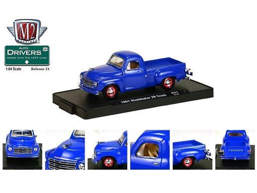 Studebaker: 2R Pickup (1951) - Auto Drivers - Azul - M2 Machines - 1:64