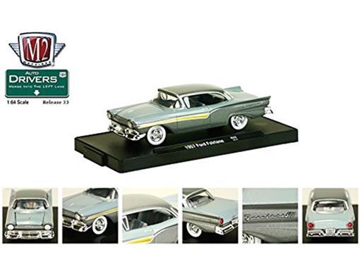 Ford: Fairlane (1957) - Auto Drivers - Cinza - M2 Machines - 1:64